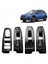 Накладки под карбон Субару ХВ / Subaru XV 2017-2019 на двери