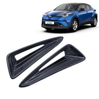Накладка карбон переднего бампера Toyota C-HR 2017-2018