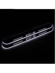 Накладки на пороги с подсветкой для Мазда СХ-5 / Mazda CX-5 2011-2016