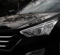 Хром накладка передних фар Хендэ Санта Фе / Hyundai Santa Fe IX45 2012-2015