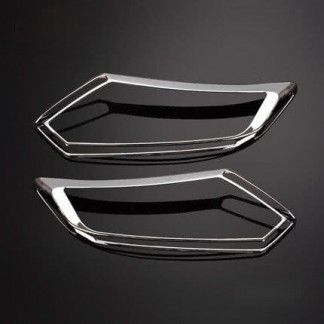 Хром накладка передних фар Ниссан Х-Трейл / Nissan X-Trail 2014-2017