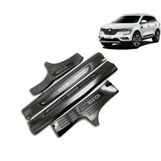 """Накладки на пороги """"Черный титан"""" Renault Koleos от магазина Tuningwest.ru"""