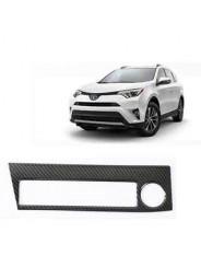 Накладки под карбон Тойота РАВ 4 / Toyota RAV 4 2016-2019 на панель прикуривателя