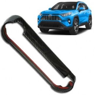 Накладка под карбон Тойота РАВ4 / Toyota RAV4 2019-2020 на блок климат контроля