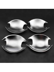 Хромированные накладки ручек дверей (чашки) Митсубиси Асх / Mitsubishi Asx 2011-2016