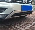 Накладки из нержавеющей стали переднего и заднего бампера Volkswagen Tiguan / Фольксваген Тигуан 2017-2018