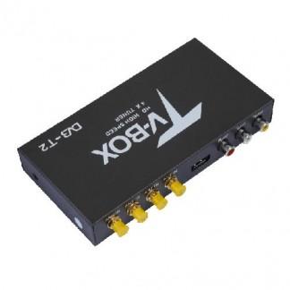 Автомобильный ТВ-тюнер цифровой DVB-T2 4 антенны