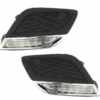 Штатные дневные ходовые огни хром для Volvo XC60 / Вольво ХС60 2008-2013