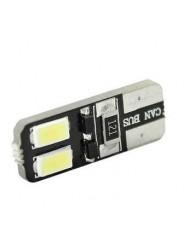 Светодиодная лампа T10 W5W 4 Led двухсторонняя Canbus