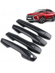 Накладки ручек дверей карбон Mitsubishi Eclipse Cross 2018-