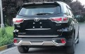 Накладки переднего и заднего бампера Toyota Highlander / Тойота Хайлендер 2015-