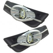Противотуманные фары линза хром Шевроле Круз / Chevrolet Cruze 2009-2013