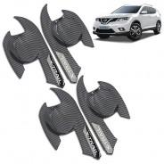 Накладки под ручи дверей (чашки) карбон Nissan X-Trail T32 / Ниссан Х-Трейл 2014-2018