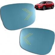 Зеркальный элемент с повторителями поворотов и подогревом Мазда СХ-5 / Mazda CX-5 KE 2011-2017
