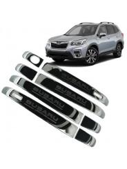 """Накладки """"Черный титан"""" на ручки дверей Субару Форестер / Subaru Forester S5 2018-2019"""