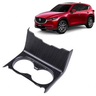 Накладка на подстаканник Mazda CX-5 / Мазда СХ-5 2017-2019 под дерево
