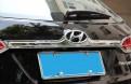 Хром накладка задней двери Хендай Ай Икс 45 / Hyundai IX45 Santa Fe 2013-2015