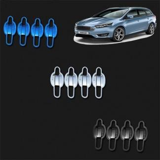 Хром накладки ручек дверей (чашки) Форд Фокус / Ford Focus 2010-2019