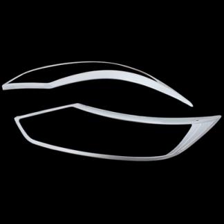 Хром накладка передних фар Ниссан Кашкай / Nissan Qashqai J11 2013-2017