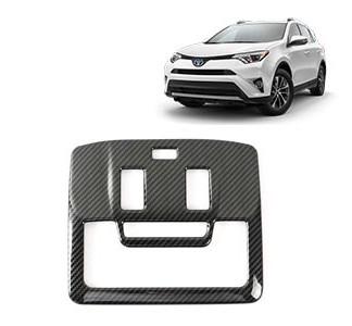 Накладки под карбон Тойота РАВ 4 / Toyota RAV 4 2016-2019 на плафон подсветки