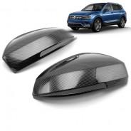 Накладки зеркал под карбон Фольксваген Тигуан / Volkswagen Tiguan 2017-2019