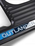 """Накладки на пороги Митсубиси Аутлендер 3 / Mitsubishi Outlander 3 2013-2019 """"Карбон"""""""