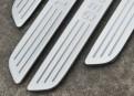 Комплект накладок на пороги для Volkswagen Touareg / Фольксваген Туарег 2011-2014