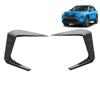 Накладка на передний бампер Тойота РАВ 4 / Toyota RAV 4 Тойота РАВ 4 2019-2020 под карбон