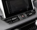Накладка под карбон Тойота РАВ 4 / Toyota RAV 4 2019-2020 на центральный воздуховод