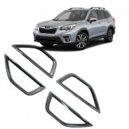 Накладки под карбон внутренних ручек для Subaru Forester / Субару Форестер 2018-2019