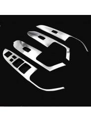 Накладка из нержавейки на подлокотники дверей Mitsubishi ASX / Митсубиси АСХ 2010-2016