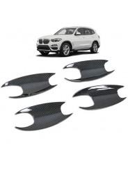 Накладки под ручи дверей (чашки) карбон БМВ Х3 / BMW X3 2017-2019