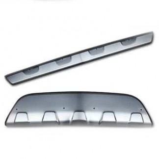 Накладки из нержавеющей стали переднего и заднего бампера Opel Mokka / Опель Мокка 2012-
