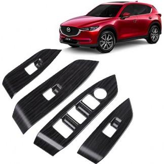 Накладки под дерево Мазда СХ-5 / Mazda CX-5 2017-2019 на двери
