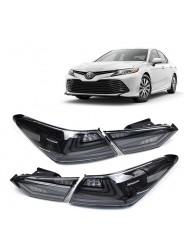 Задние фонари светодиодные Тойота Камри / Toyota Camry V70 2018-2019 дымчатые