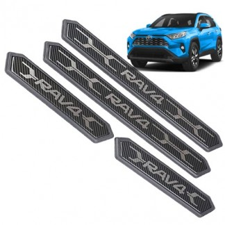 Пластиковые накладки порога для Тойота РАВ 4 / Toyota RAV 4 2019-2020