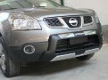 Накладки переднего и заднего бампера на Nissan Qashqai / Ниссан Кашкай 2008-2012