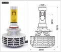 Лампа светодиодная автомобильная 3000 Люмен HB3 (9005)