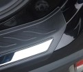 Накладка пластиковая на задний бампер Мицубиси Аутлендер 3 / Mitsubishi Outlander 3 2016-2019