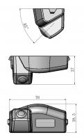 Обзорная камера заднего вида Mazda 3 / Мазда 3 2009-2013