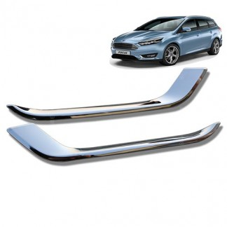 Хром накладки противотуманных фар Форд Фокус / Ford Focus 2015-2019