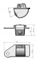 Обзорная камера заднего вида Mitsubishi Asx / Мицубиси Асх 2011-2015