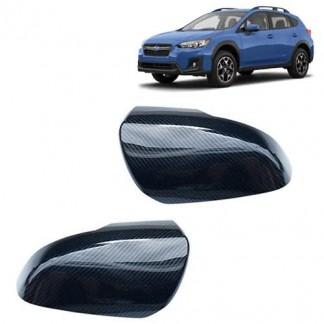 Накладки зеркал под карбон Субару ХВ / Subaru XV 2017-2019
