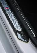 """Накладки на пороги """"Черный титан"""" BMW X3 / БМВ Х3 2017-2019"""