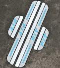 Комплект накладок на пороги для Honda Fit / Хонда Фит 2014