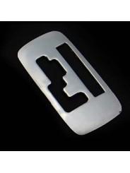 Накладка на консоль из нержавейки №2 Mitsubishi Outlander / Митсубиси Аутлендер 2013-2014