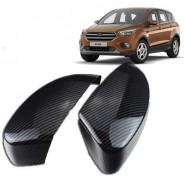 Накладки на зеркала карбон Форд Куга / Ford Kuga 2013-2019