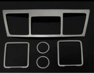 Комплект накладок из нержавейки в салон Toyota Highlander / Тойота Хайлендер 2012-2013