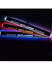 Накладки на пороги с подсветкой для Мицубиси Аутлендер / Mitsubishi Outlander 2013-2016