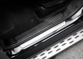 Накладки порогов Мерседес ГЛЕ / Mercedes-Benz GLE W166 2015-2018 Черный титан